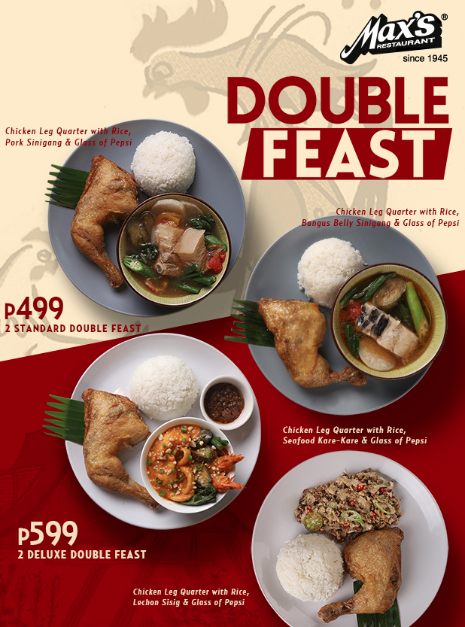 Max's Double Feast Meals Promo