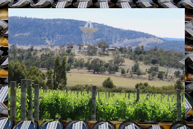 Satellite and vineyards in Coal River - Exploring Hobart, Tasmania on a Weekend City Break from Sydney Australia