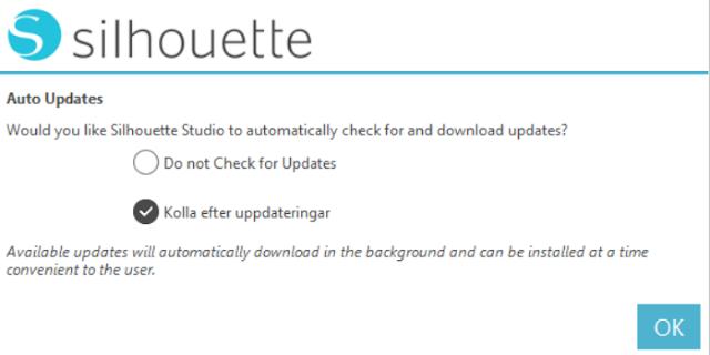 Silhouette Studio v.4 - Auto updates