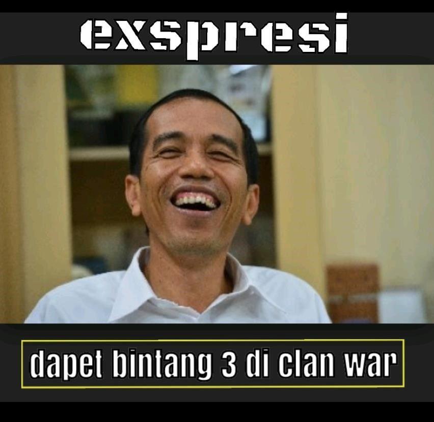 clash of clans kata cinta jokowi