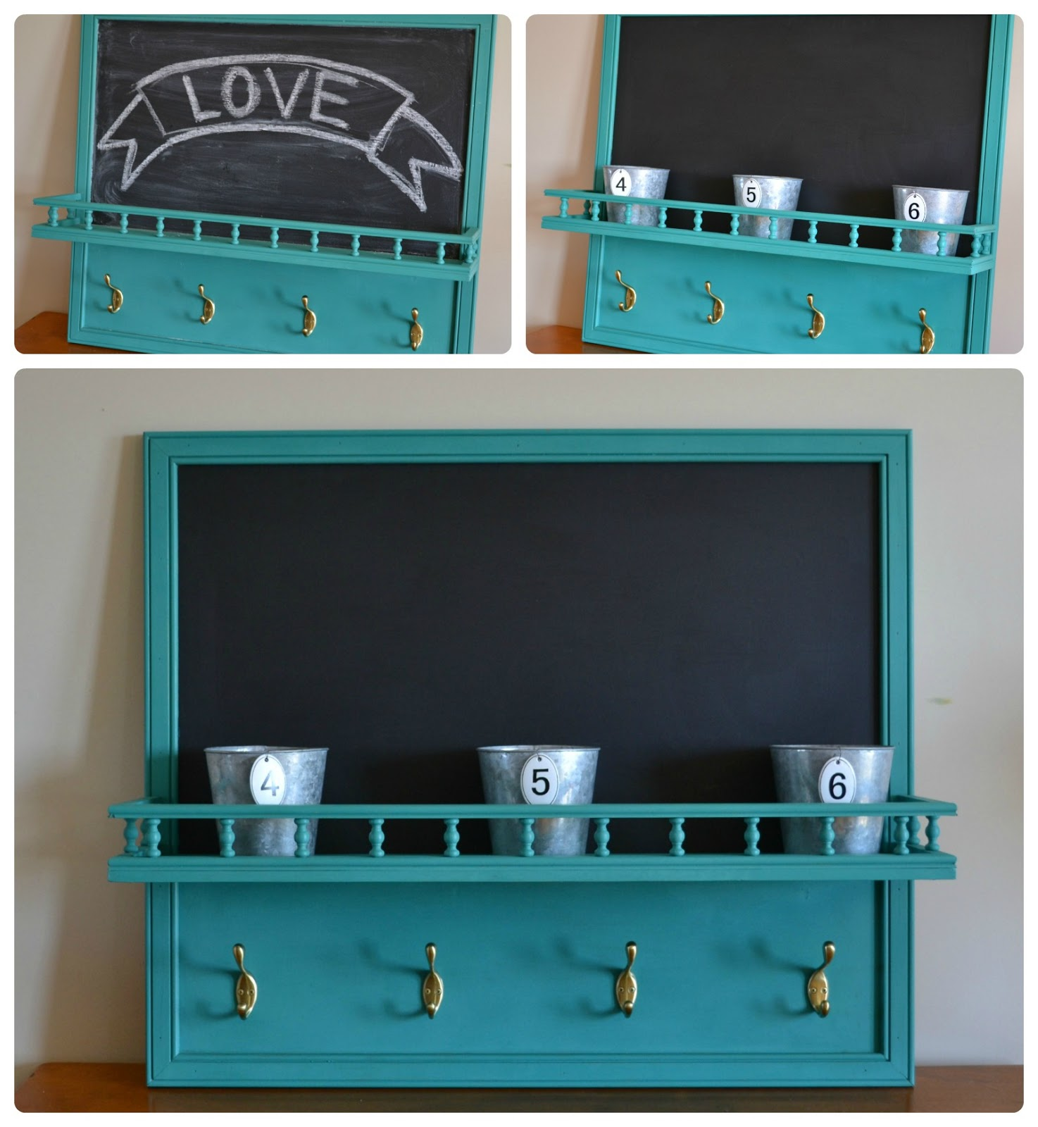 Chalkboard With Shelf And Hooks | Tyres2c