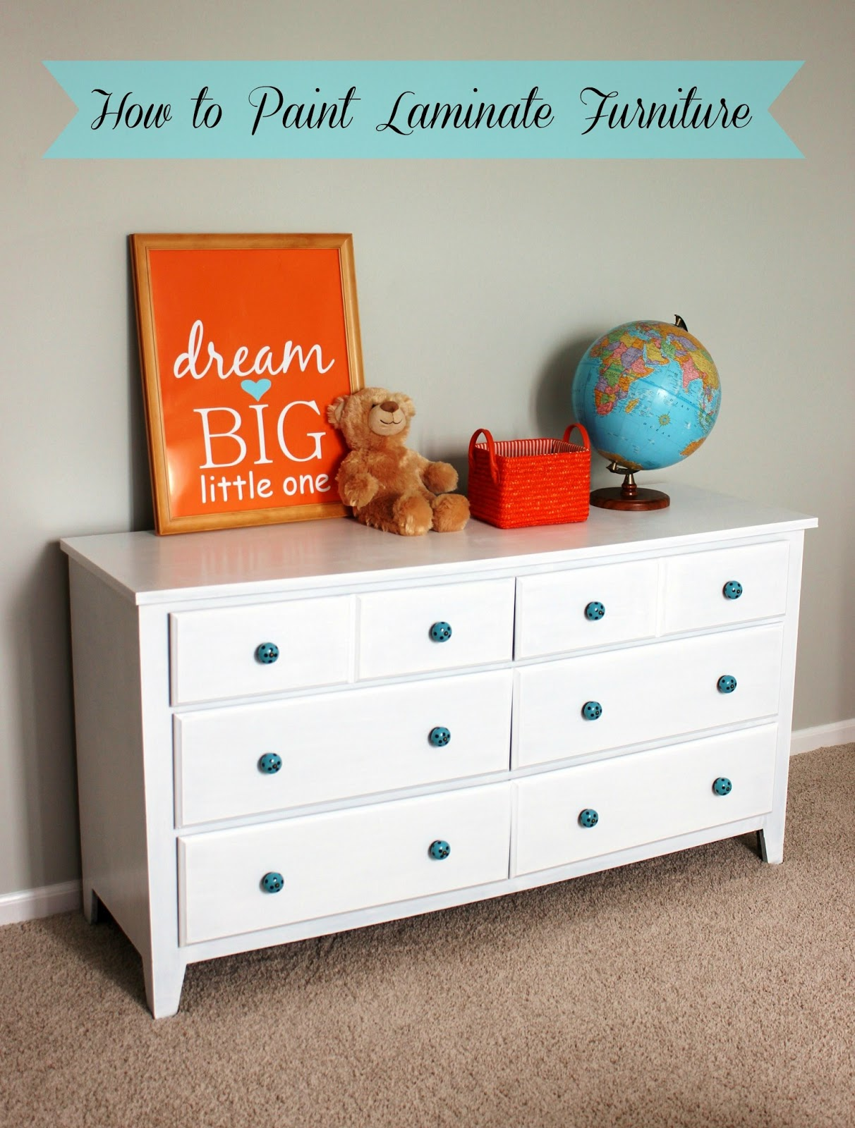 Old Dresser Makeover How To Paint Laminate Furniture
