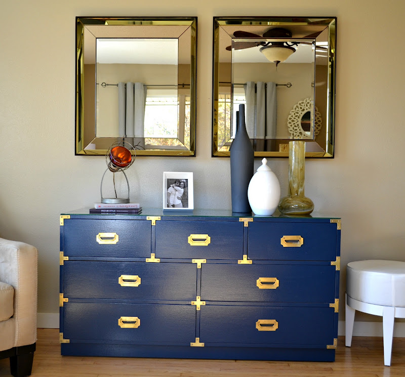 The Turquoise Iris  Furniture  Art Campaign Dresser