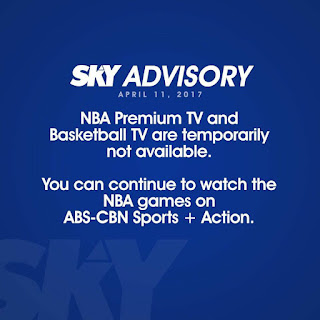 NBA Premium TV Not Available