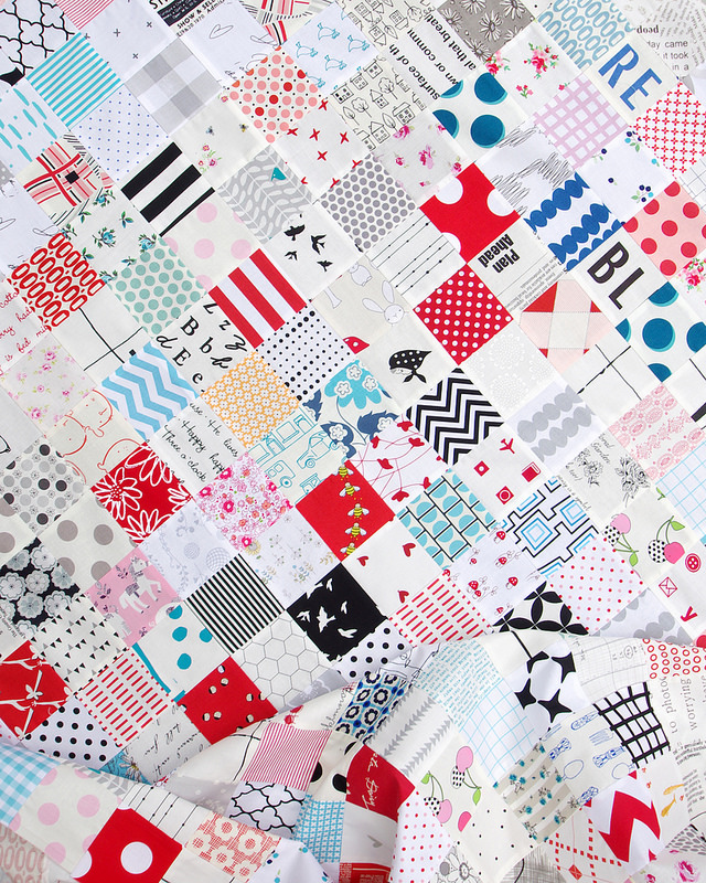 Stash Buster Quilt 1 - A Checkerboard Quilt | Red Pepper Quilts 2016