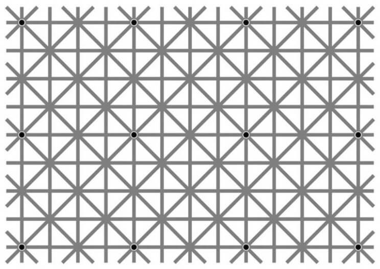 Our Brain Doesn't Allow Us To Spot All The Dots In This Optical Illusion