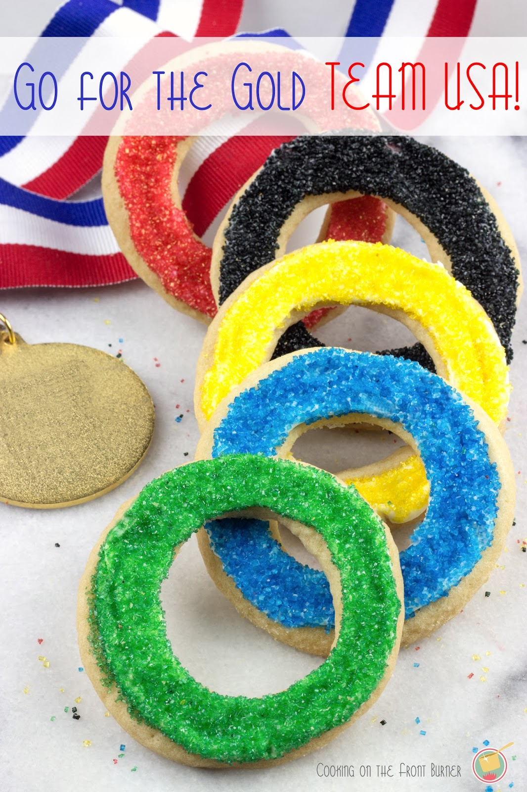 Team USA Olympic Sugar Cookies | Cooking on the Front Burner #olypmiccookies #teamusa #pillsbury