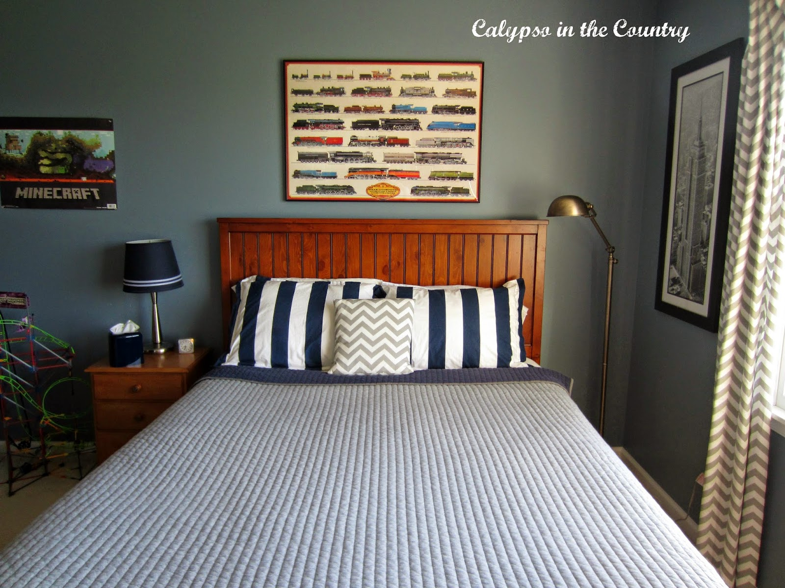Boys Blue and Gray Bedroom
