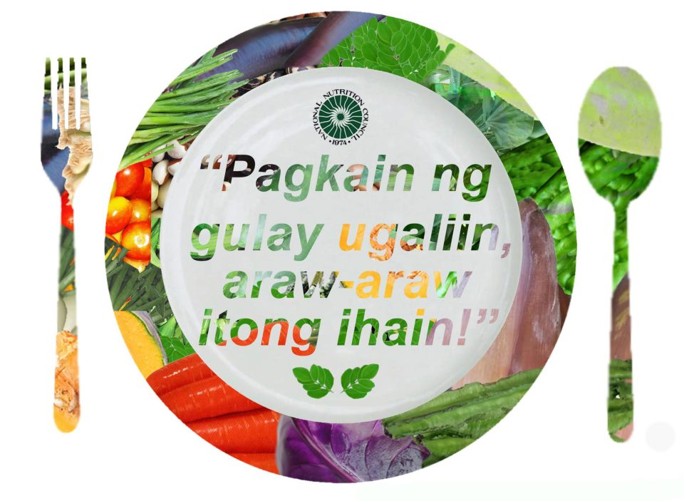 2012 Nutrition Month Theme This Years Focuses On Vegetables With The Pagkain Ng Gulay Ulagliin Araw Itong Ihain