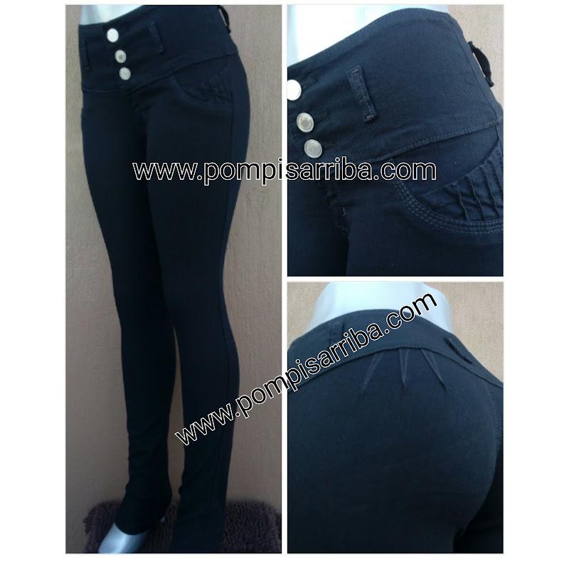 Pantalon Color Negro Mezclilla Stretch para dama y Mujer en Mercadolibre envio gratis 2019 2020 2021
