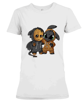 baby groot and toothless t shirt, baby groot and toothless shirts