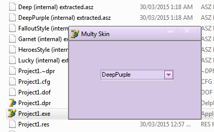 Source Code Multy Select Skin Manager di Borland Delphi 7