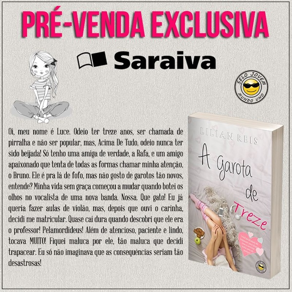 prevenda, livro, A-Garota-de-Treze, Mundo-Uno-Editora, Lilian-Reis, capa, sinopse, infantojuvenil, literaturanacional