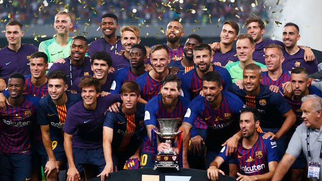 El Barça sufre, pero se lleva la Supercopa de España