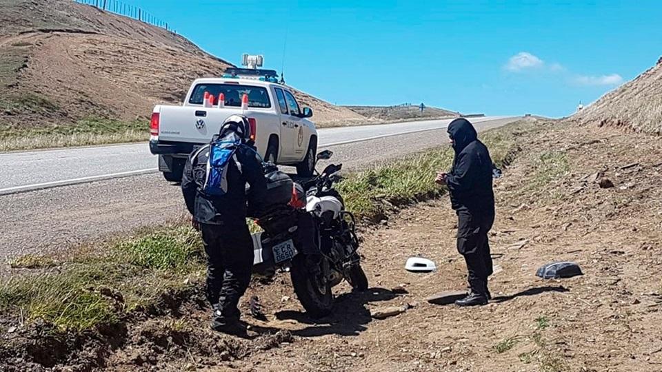 Motociclistas accidentados en la Ruta 3