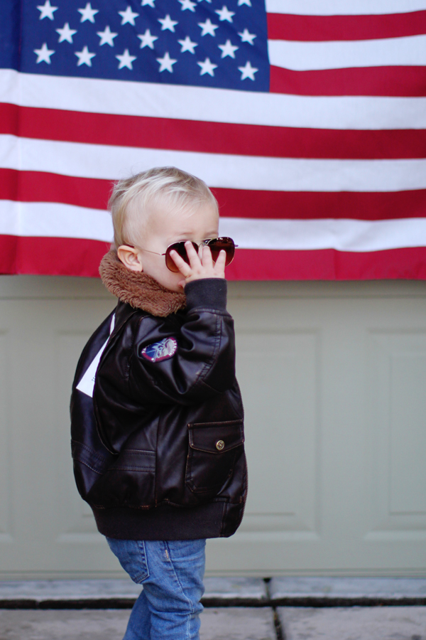 Toddler aviators and bomber jacket