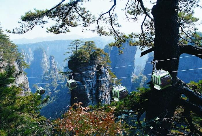 wulingyuan scenic cableslider zhangjiajie national park china