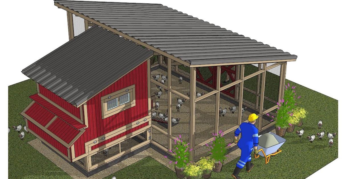 Home Garden Plans L104 Chicken Coop Plans Construction