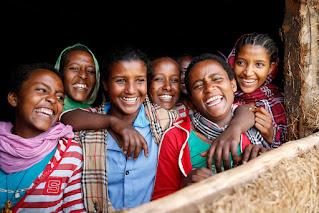 Ethiopian school kids