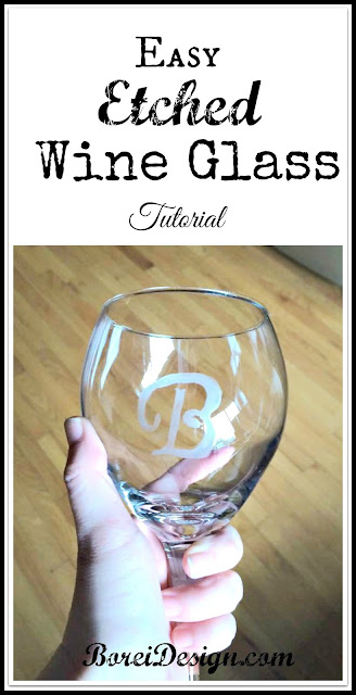 DIY Craft Tutorial: How to make your own etching stencils and monogrammed wine glasses.