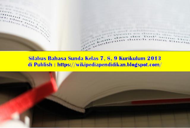 Silabus Bahasa Sunda Kelas 7, 8, 9 Kurikulum 2013