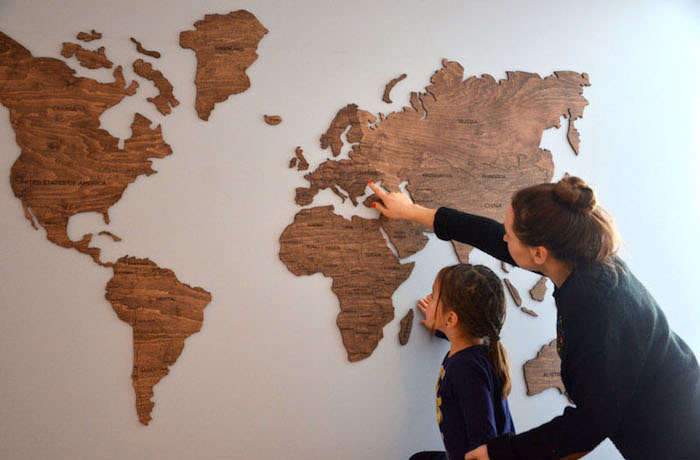 How To Make World Map Decor And Art For Your Interior Design - 3d world map wall art