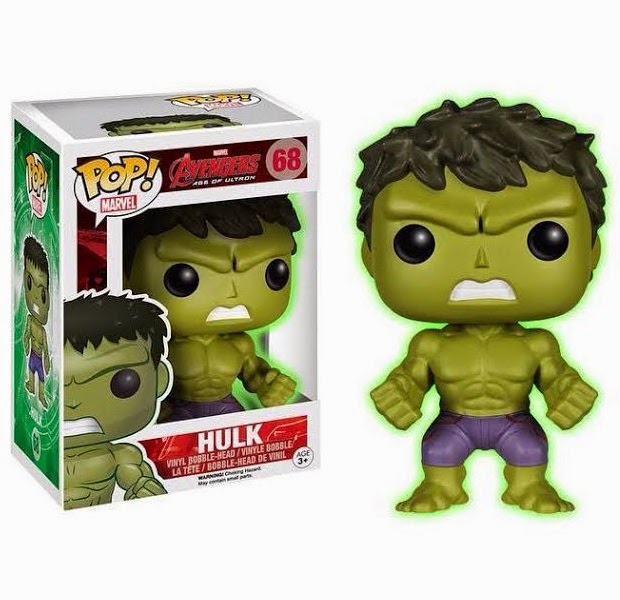 "Barnes and Noble Exclusive ""Gamma Glow"" Hulk Avengers: Age of Ultron Pop! Marvel Vinyl Figure by Funko"