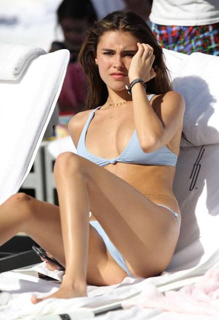 Madison Beer in Bikini at the beach in Miami
