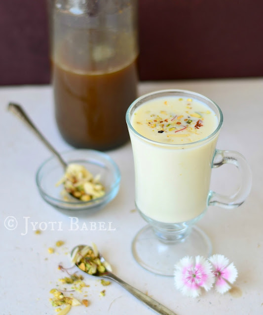 how to make thandai syrup from scratch recipe