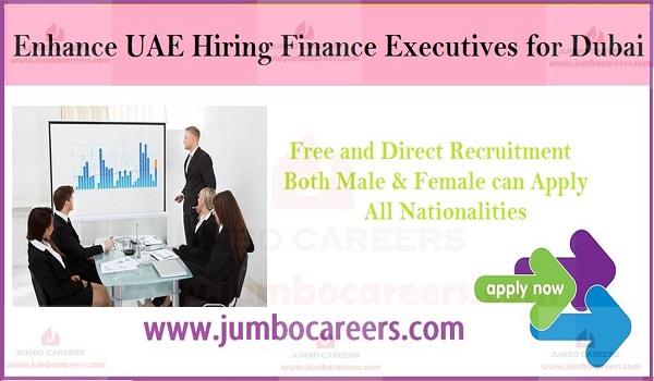 Recent fiance jobs in Dubai with salary, Latest job opportunities in Dubai,