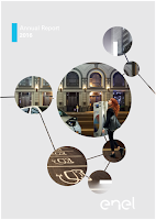 Front page of the annual 2016 report from Enel