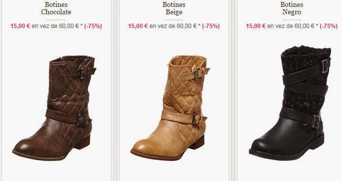 Algunos de los modelos de botines disponibles en esta oferta