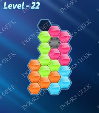 Block! Hexa Puzzle [5 Mania] Level 22 Solution, Cheats, Walkthrough for android, iphone, ipad, ipod