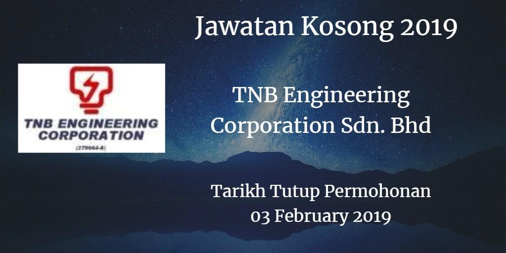 Jawatan Kosong TNB Engineering Corporation Sdn. Bhd 03 February 2019