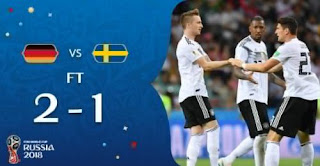 Jerman vs Swedia 2-1 - Video Gol Highlights