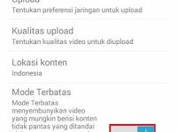 Cara Menonaktifkan Mode Terbatas YouTube Android