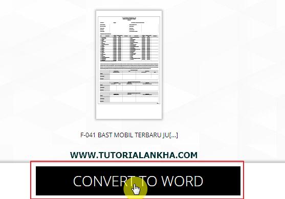Cara Mengkonversi File Pdf ke Dokumen Word