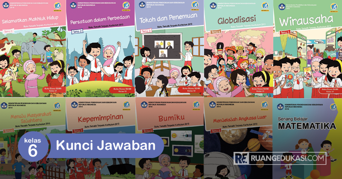 Kunci Jawaban Buku Tematik Kelas 6 Kurikulum 2013 Revisi 2018 Ruang Edukasi