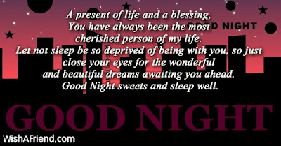 good night messge for lovers