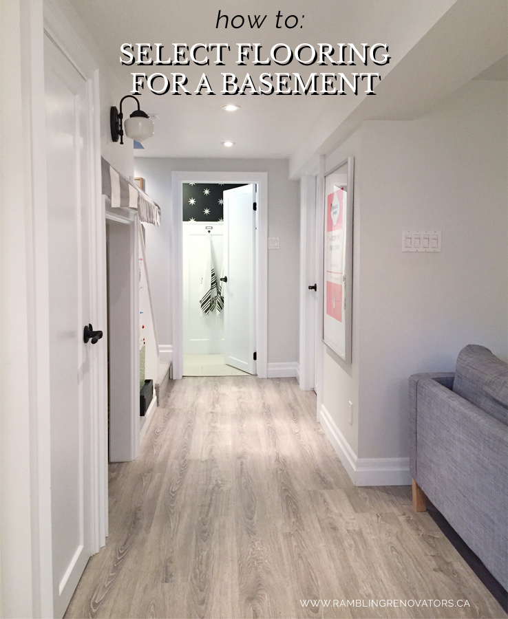 selecting flooring for a basement | ramblingrenovators.ca