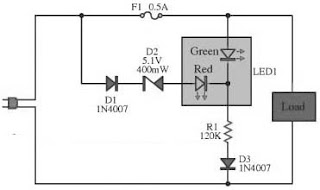Alarm LED Light Circuit Diagram