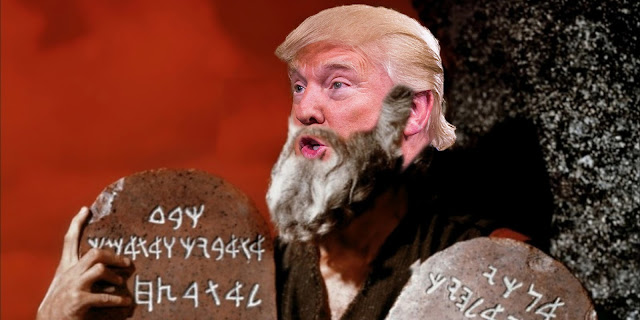 """How many of these commandments will I need to build my wall?"""