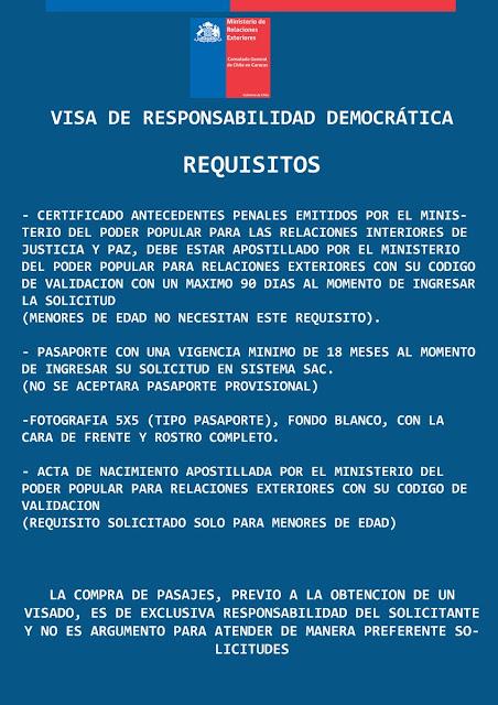 Chile modifica requisitos para la visa de residencia temporal a los venezolanos. Estos son los cambios