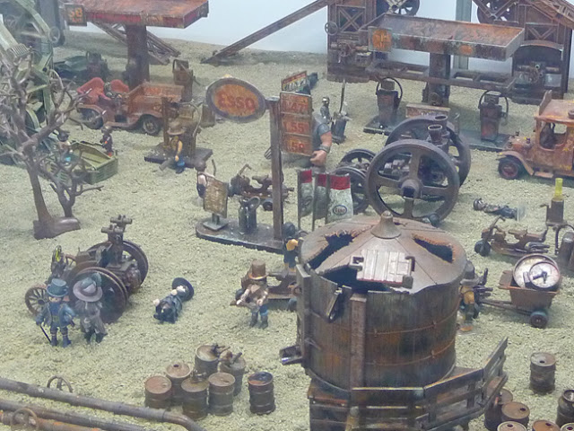 Diorama Playmobil Steam Punk Village