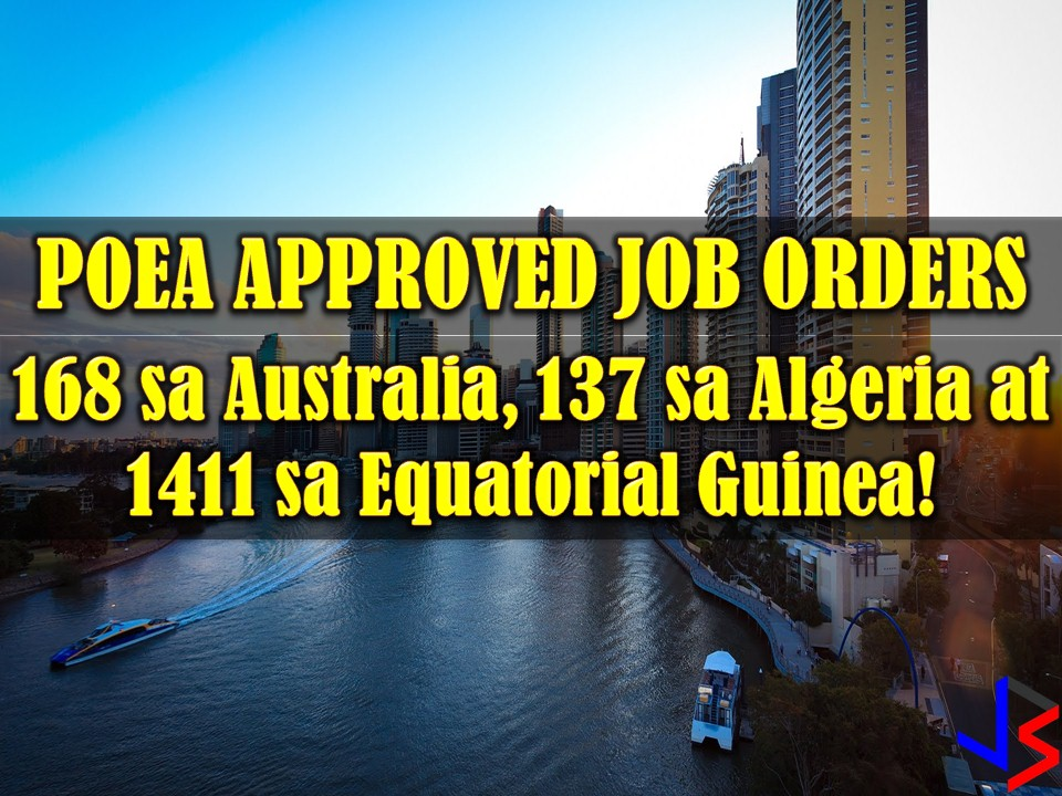 Australia, Algeria, and Equatorial Guinea. Another three countries that have job opportunities offered to many Filipinos.  Australia ranks as one of the best countries to live in the world in terms of wealth, education, health and quality of life.  Algeria and Equatorial Guinea, on the other hand, are countries, both producers of oil and gas. Algeria being a gateway between Africa and Europe has abundant oil and gas reserved while Equatorial Guinea is a small country on the west coast of Africa. Since mid-1990, it has become one of Sub-Sahara's biggest oil producers.