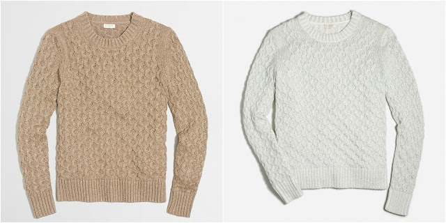 J. Crew Factory Metallic Cable Sweater $27 (reg $88)