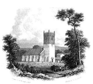 Hucknall Church from The Works of Lord Byron (1833)