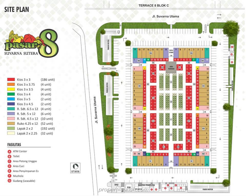 Site Plan Pasar 8 Suvarna Sutera