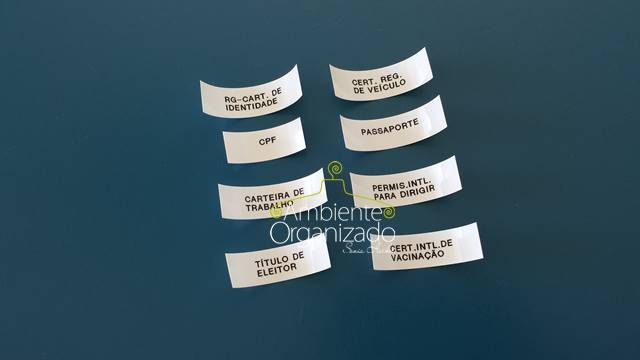 Etiquetas para identificar documentos