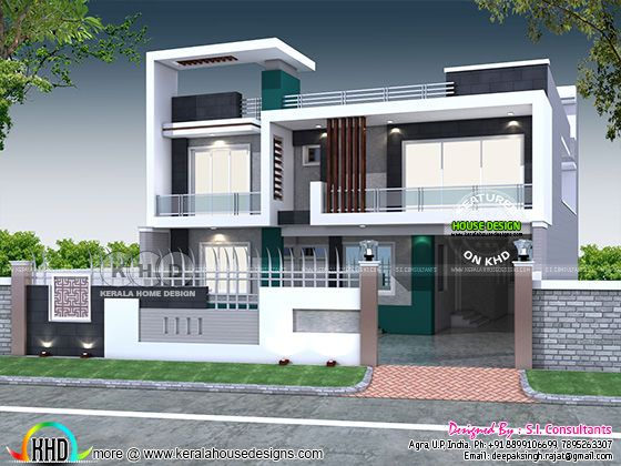 40x80 contemporary Indian home design